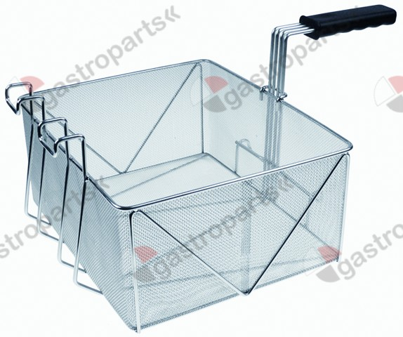 970.759, fryer basket W1 350mm L1 295mm H1 160mm stainless steel