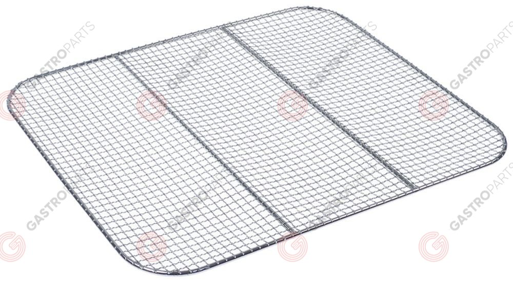 970.779, Crumb screen L 389mm W 319mm H 5mm chrome-plated steel for fryer