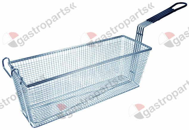 970.784, fryer basket W1 144mm L1 435mm H1 155mm chrome-plated steel