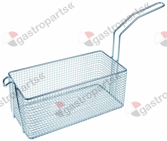 970.786, fryer basket W1 135mm L1 285mm H1 120mm chrome-plated steel