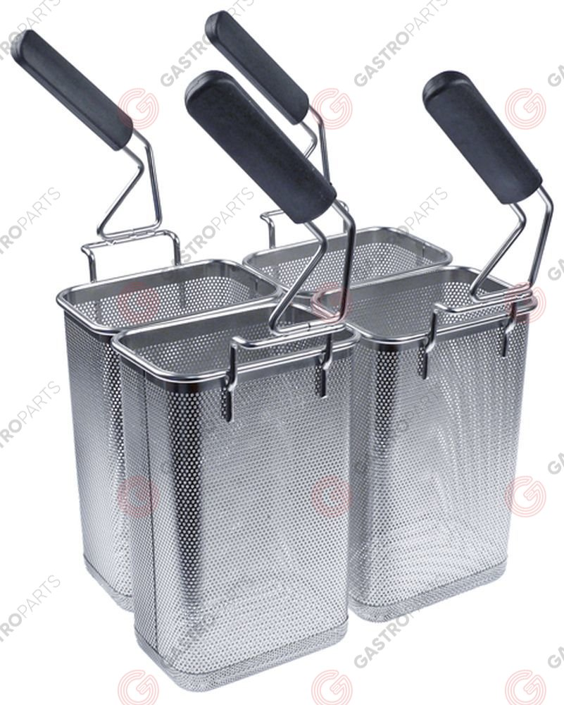 970.788, pasta basket set 4-piece H1 170mm W1 115mm L1 265mm mounting pos. left/right stainless steel