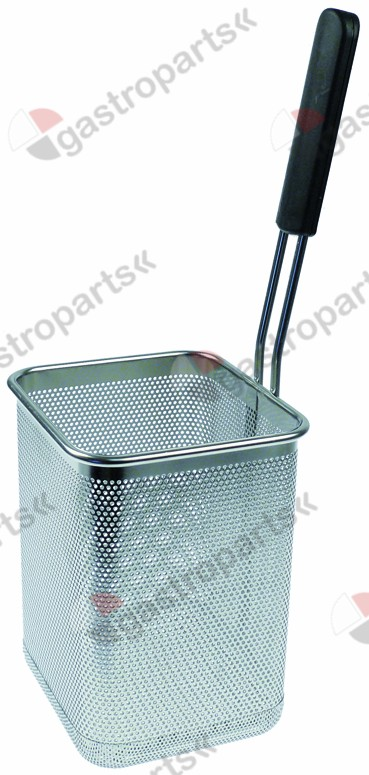 970.789, pasta basket L1 160mm W1 140mm H1 200mm H3 410mm stainless steel