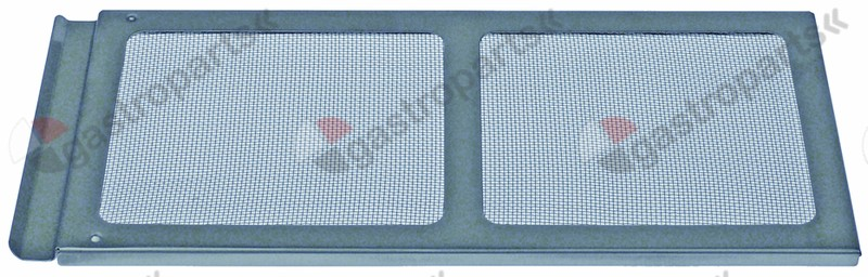970.790, grease filter W 323mm H 144mm thickness 8mm SS layers 2 outer grids 1 inner grids 1