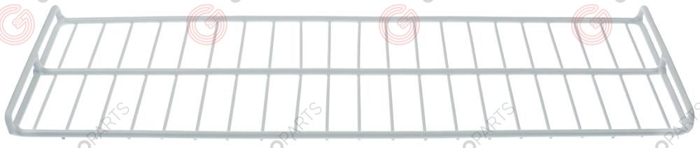 970.792, shelf W 185mm L 640mm plastic-coated steel lower wire gauge frame 7mm lengthwise wires gauge 3,5mm