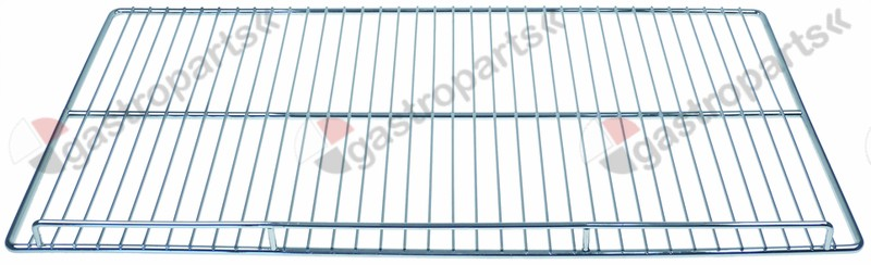 970.794, shelf W 735mm L 365mm H 35mm chrome-plated steel wire gauge frame 8mm lengthwise wires gauge 3mm