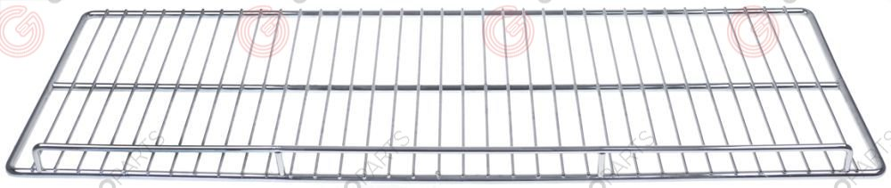 970.795, shelf W 735mm L 235mm H 37mm chrome-plated steel wire gauge frame 8mm lengthwise wires gauge 3mm