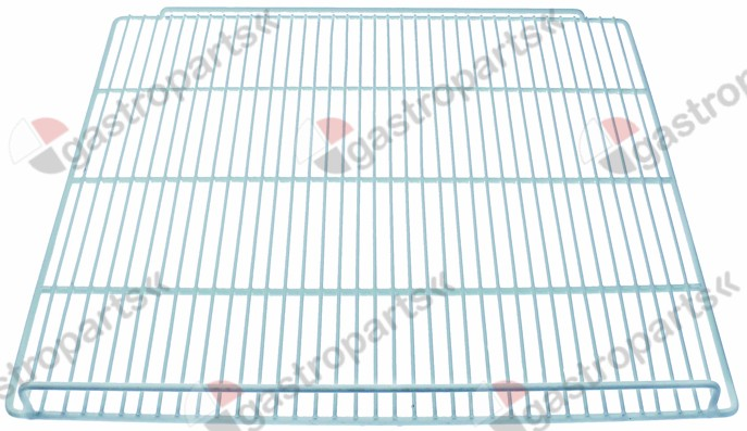 970.799, shelf W 540mm D 505mm H 41mm plastic-coated steel wire gauge frame 6mm lengthwise wires gauge 3mm