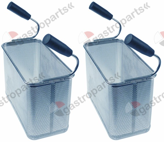 970.809, pasta basket H1 200mm W1 290mm L1 145mm size 1/3 H3 345mm stainless steel Qty 2 pcs