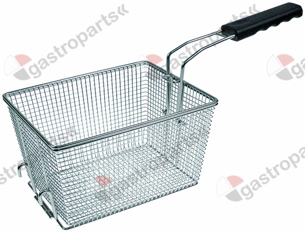970.811, fryer basket W1 190mm L1 240mm H1 145mm L2 445mm H2 170mm H3 280mm chrome-plated steel plastic