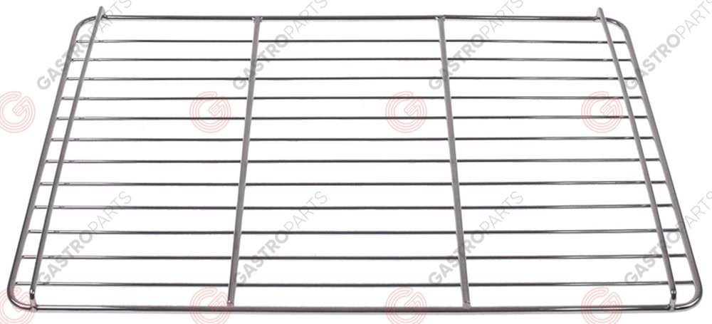 970.813, chargrill grid W 315mm D 435mm H 15mm chrome-plated steel L 315mm crossing wires 2