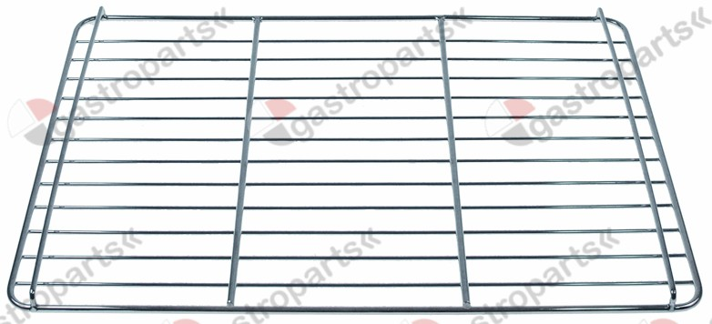 970.813, chargrill grid W 435mm L 315mm H 15mm chrome-plated steel