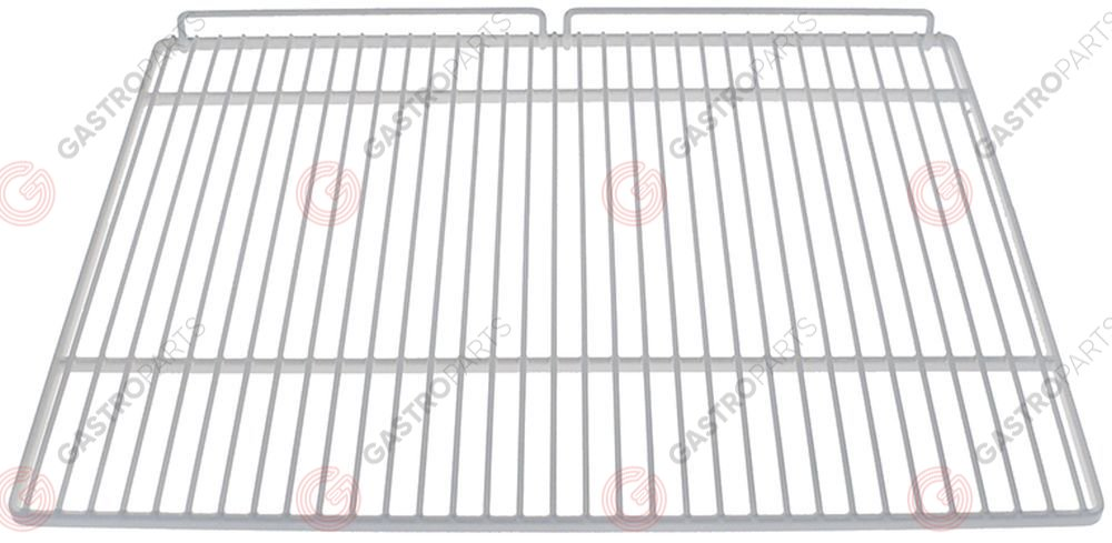 970.824, Shelf W 526mm D 418mm plastic-coated steel with hinge camp crossing wires 2