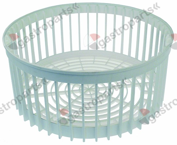 970.827, mix basket ED ø 410mm H 170mm seat ø 375mm mesh type straight