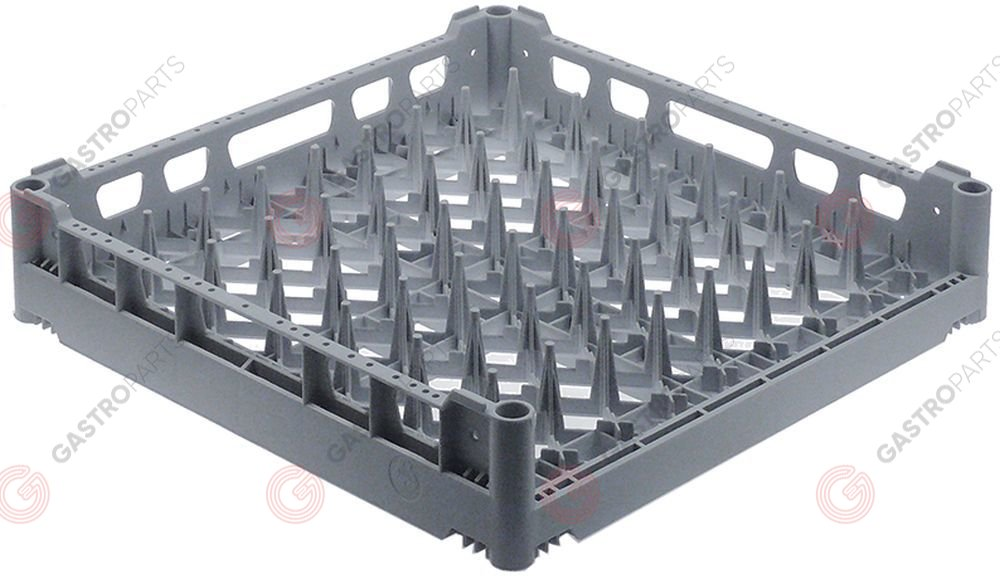 970.829, tray rack L 500mm W 500mm H 110mm mesh type wide-meshed for 8 trays for size 530x370