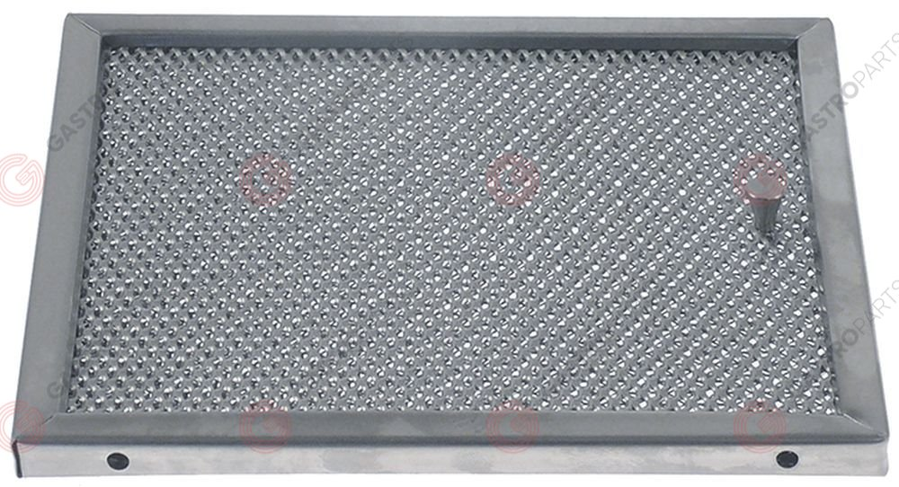 970.831, grease filter W 135mm H 155mm thickness 9mm SS layers 7 outer grids 2 inner grids 5