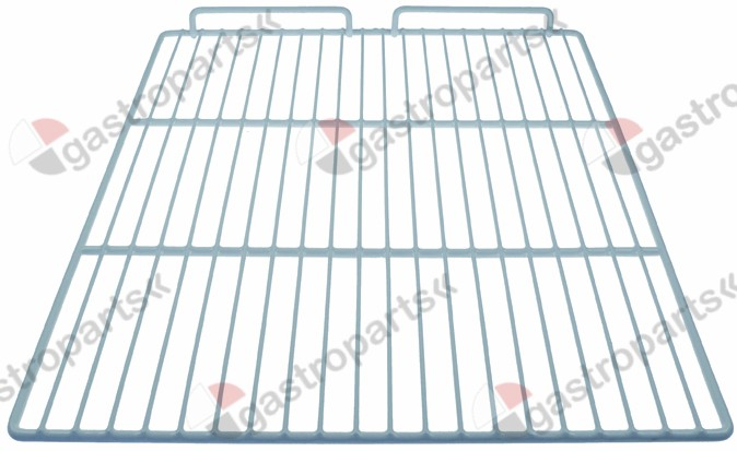970.838, shelf GN 2/1 W 530mm D 650mm plastic-coated steel crossing wires 2 white AMITEK