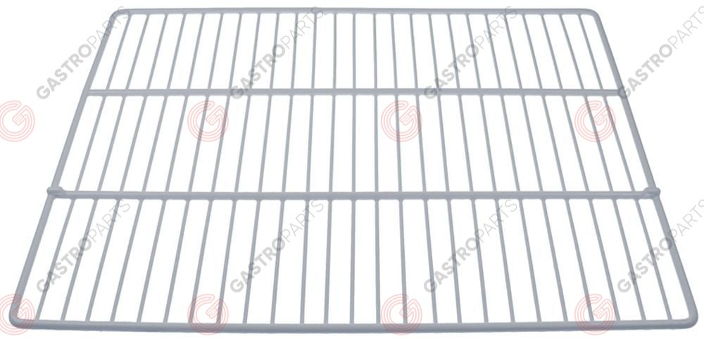 970.839, shelf GN 2/1 W 650mm D 530mm plastic-coated steel crossing wires 2 white AMITEK