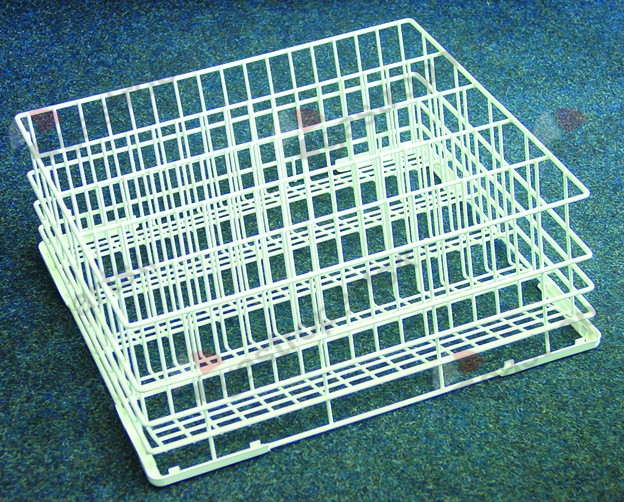 971.041, glass basket L 500mm W 430mm H 170mm number of rows 5 rows spacing 70mm