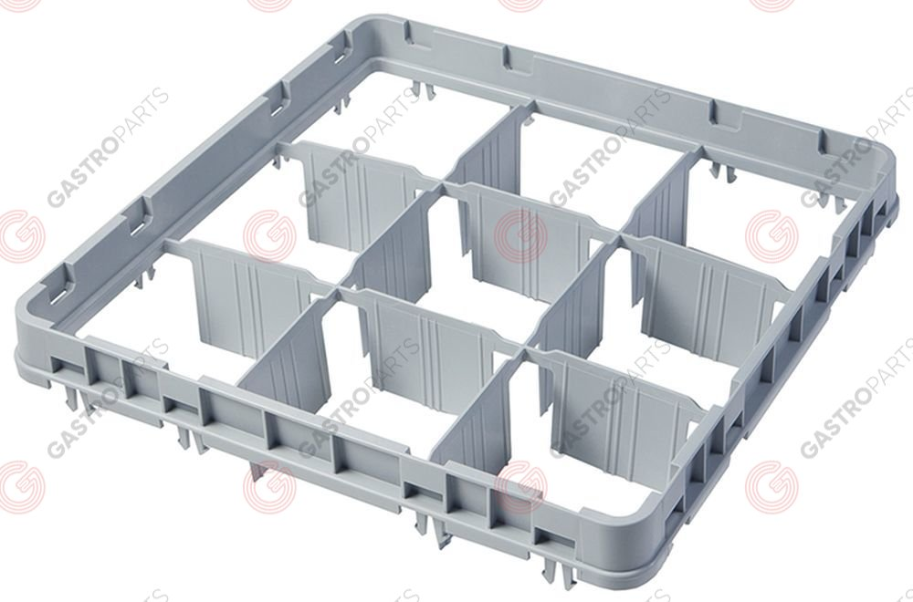 972.107, High extension for basket CAMBRO for glass basket L 500mm W 500mm H 51mm usable height 41mm