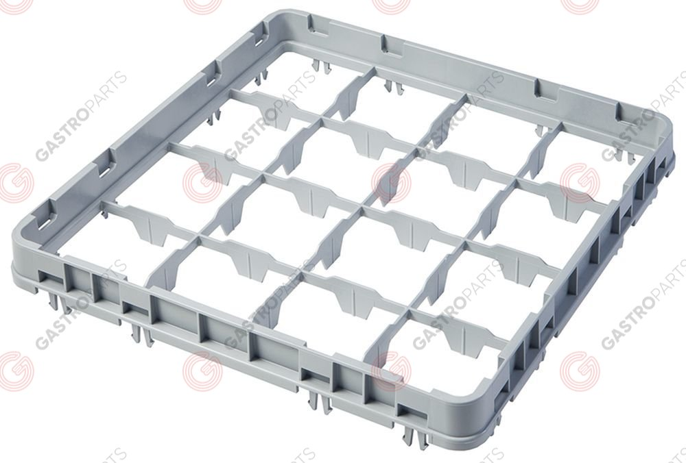 972.113, High extension for basket CAMBRO for glass basket L 500mm W 500mm H 51mm usable height 41mm