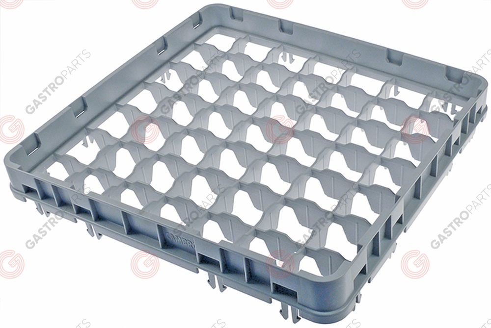 972.116, High extension for basket CAMBRO for glass basket L 500mm W 500mm H 51mm usable height 41mm