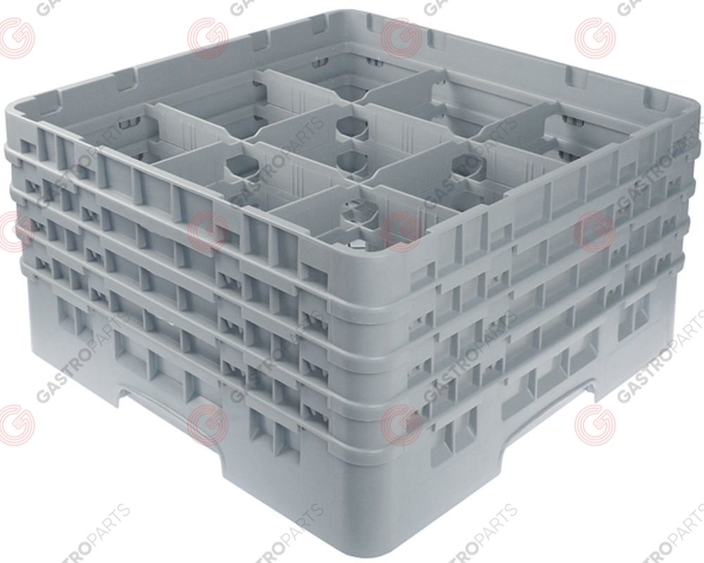 972.122, Glass basket CAMBRO L 500mm W 500mm number of glasses 9 H 265mm usable height 247mm