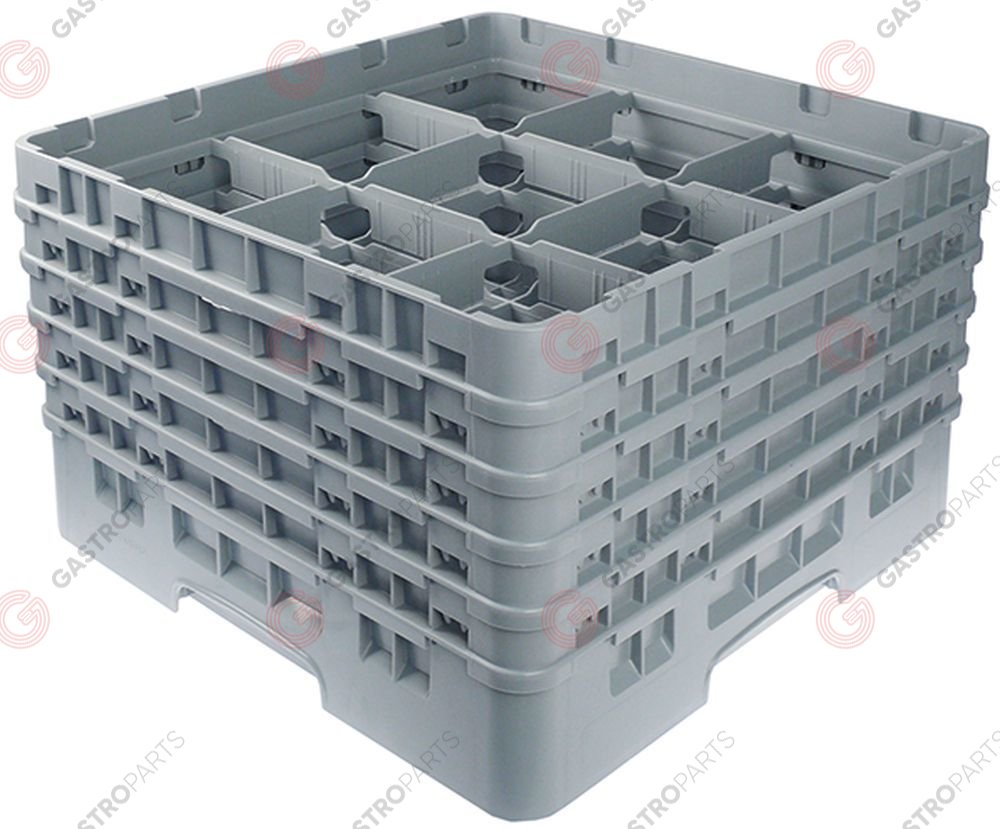 972.123, Glass basket CAMBRO L 500mm W 500mm number of glasses 9 H 306mm usable height 288mm