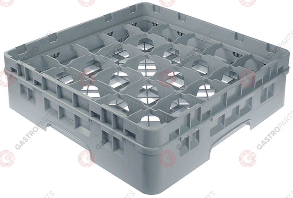 972.129, Glass basket CAMBRO L 500mm W 500mm number of glasses 25 H 142mm usable height 124mm