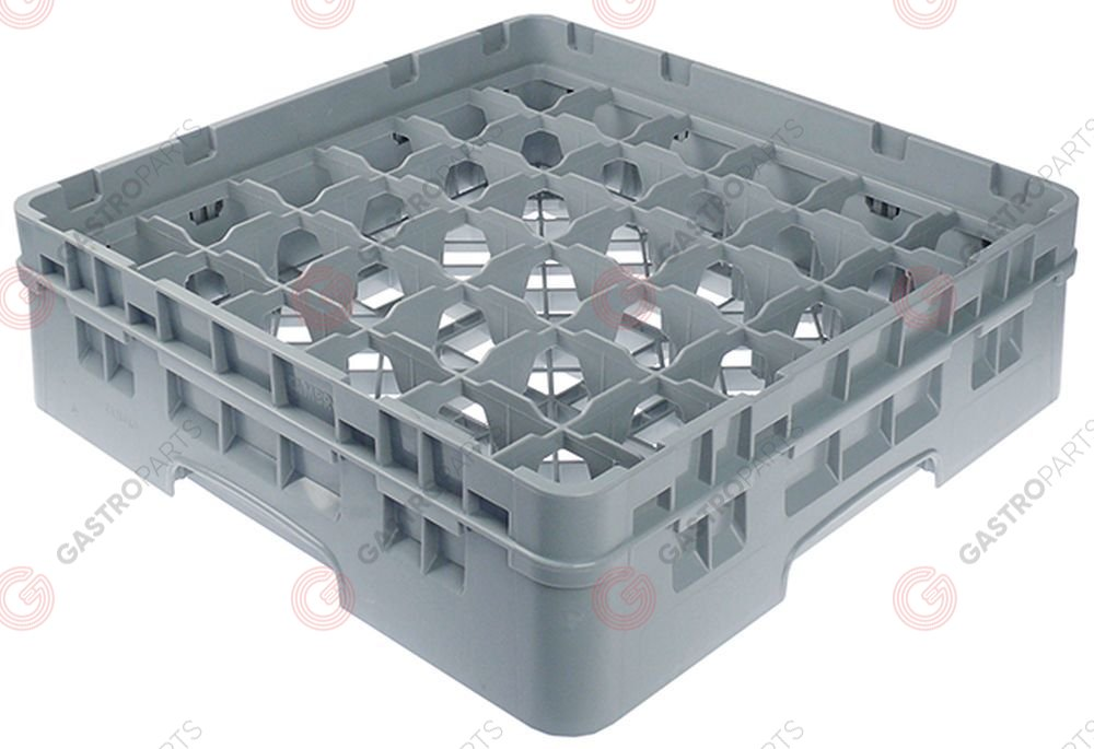 972.134, Glass basket CAMBRO L 500mm W 500mm number of glasses 36 H 142mm usable height 124mm