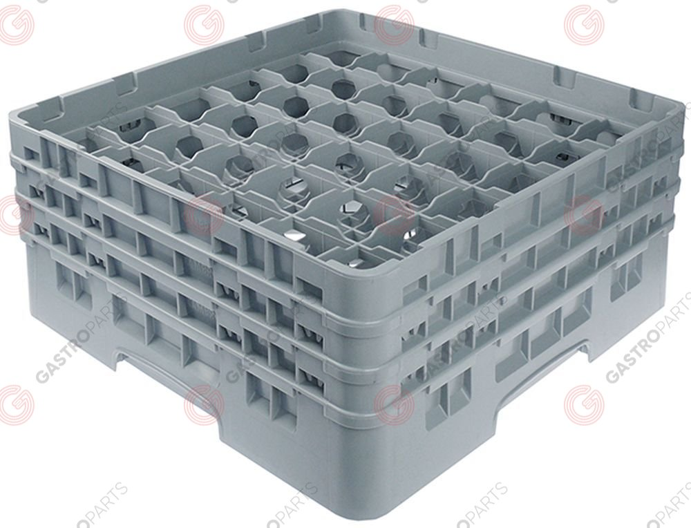 972.136, Glass basket CAMBRO L 500mm W 500mm number of glasses 36 H 224mm usable height 206mm