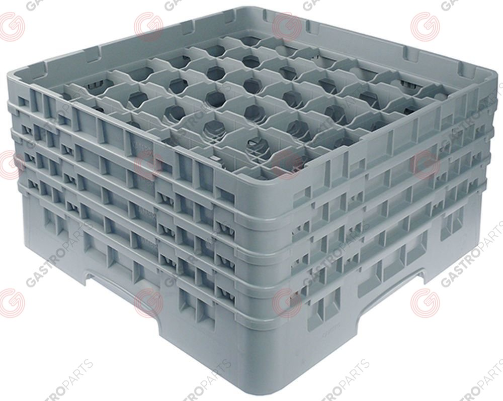 972.137, Glass basket CAMBRO L 500mm W 500mm number of glasses 36 H 265mm usable height 247mm