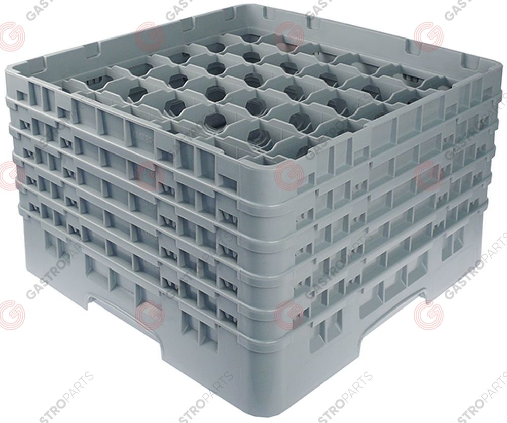 972.138, Glass basket CAMBRO L 500mm W 500mm number of glasses 36 H 306mm usable height 288mm