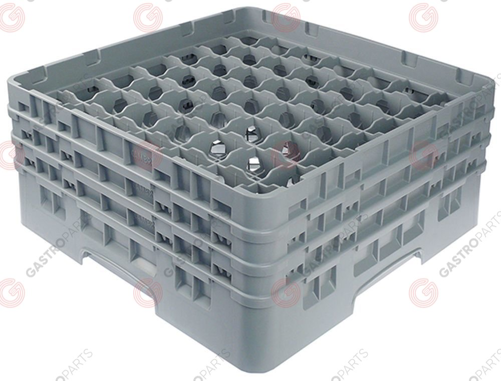 972.141, Glass basket CAMBRO L 500mm W 500mm number of glasses 49 H 224mm usable height 206mm