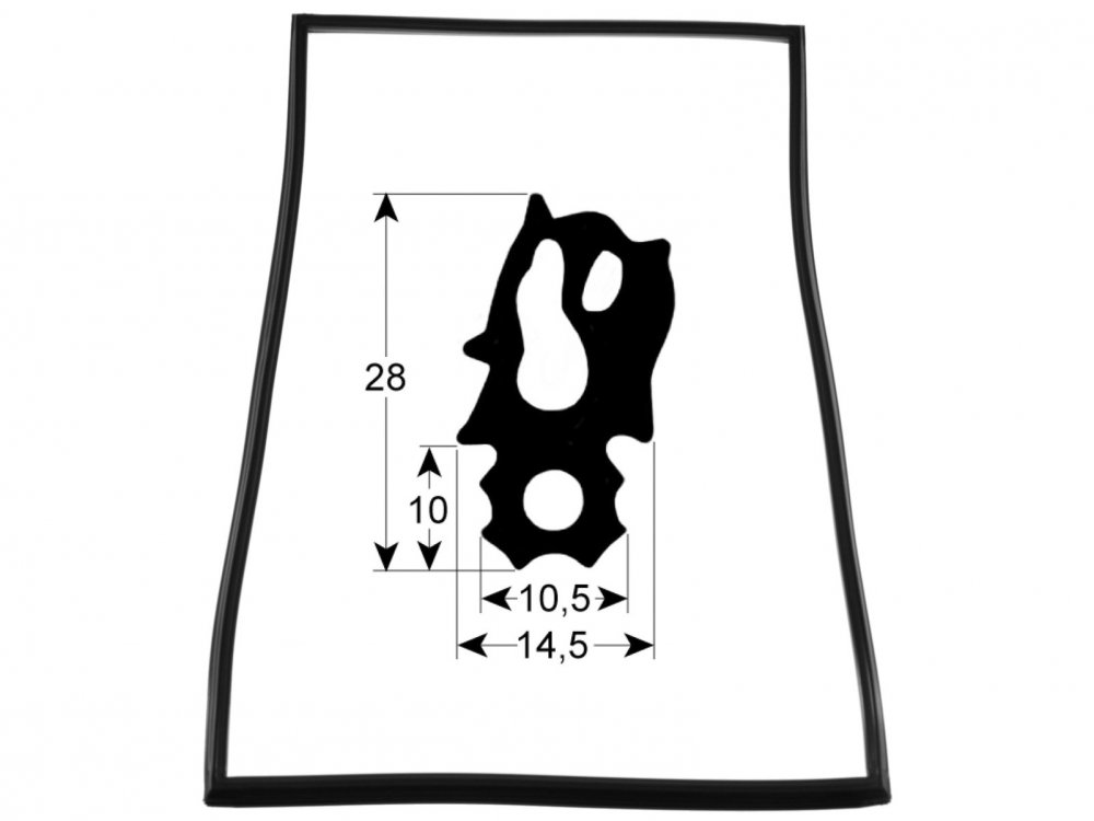 RA2002552P, RATIONAL door gasket SCC, CM 101 20.02.552P