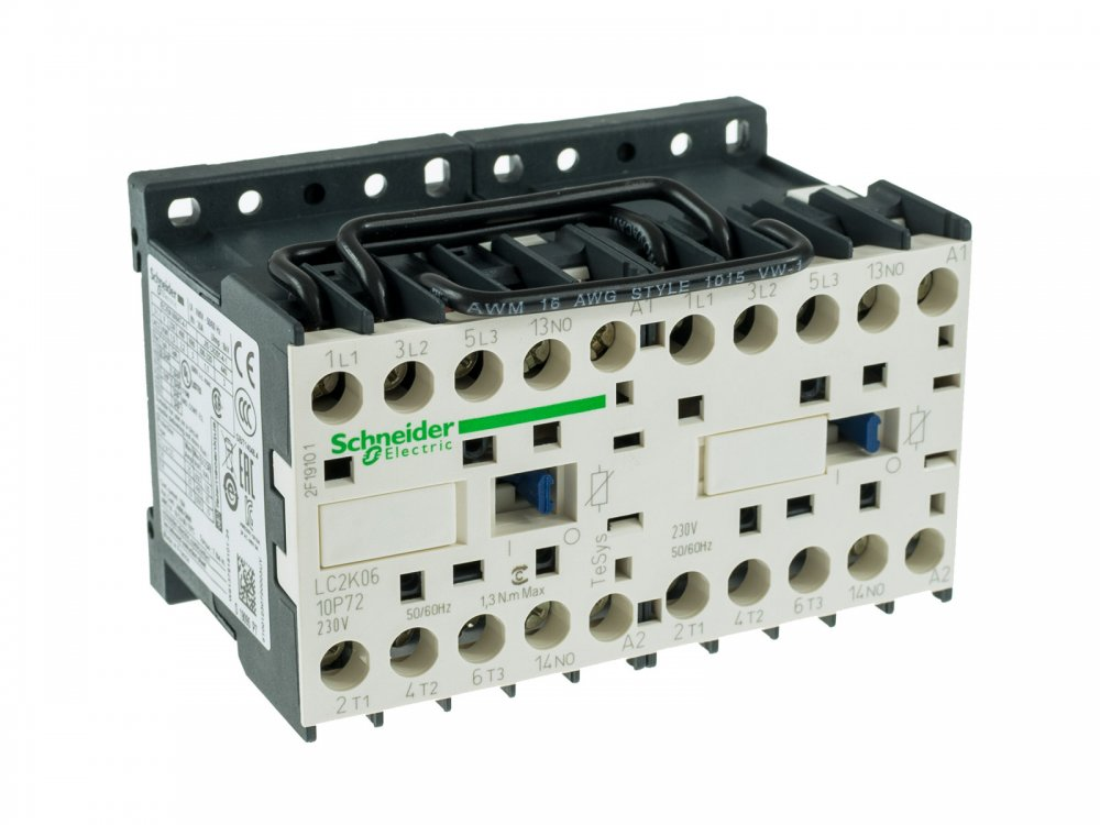 RMEA020002, power contactor resistive load 20A 230VAC (AC3/400V) 6A/2.2kW main contacts 2x3NO