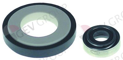 S0040504, mechanical shaft seal height counter ring 8 mm ID ø 16 mm ED ø 39 mm H 15 mm mounting ø 42 mm